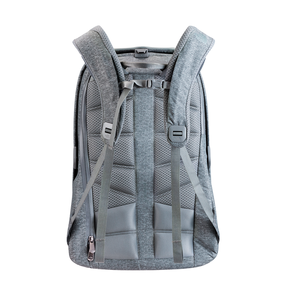【The North Face】ACCESS PACK科技背包_灰_NTD9980(背面)