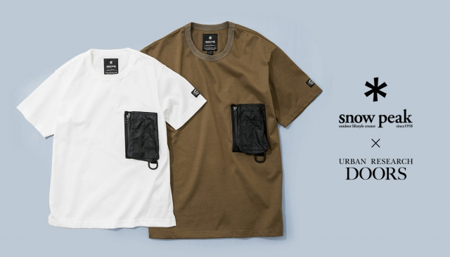 與日本同步販售 Snow Peak × URBAN RESEARCH DOORS EXCLUSIVE T-shirt