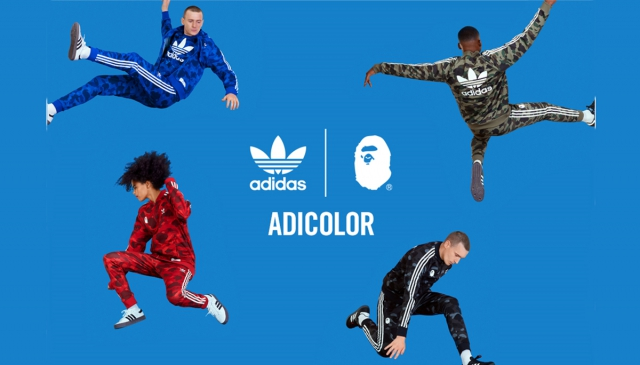 迷彩 色彩 文化 adidas Originals by A BATHING APE 2018秋冬聯乘系列